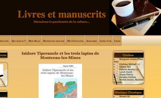 «Livres et Manuscrits» a lu «Isidore Tiperanole....»