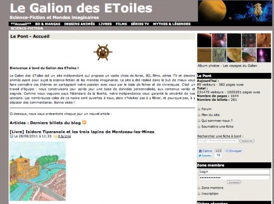 """Le Galion fait sa """"Une"""" sur """"Isidore Tiperanole et les trois lapins de Montceau-les-Mines"""""""