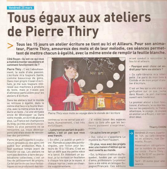 Article «Côté Rouen» 23/03/2011