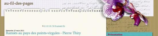 """""""Au fil des pages"""" webzine littéraire"""