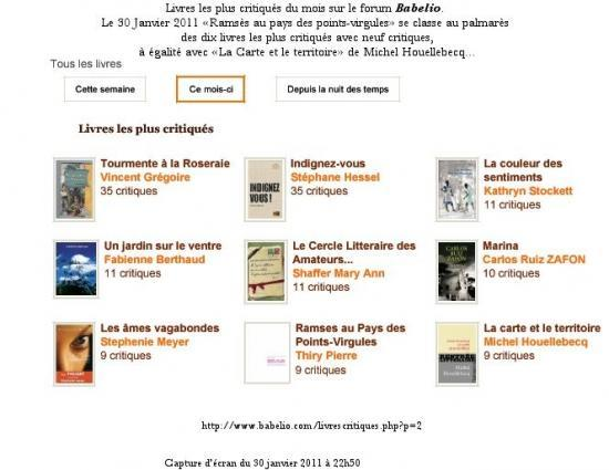 Ex-aequo avec Houellebecq...
