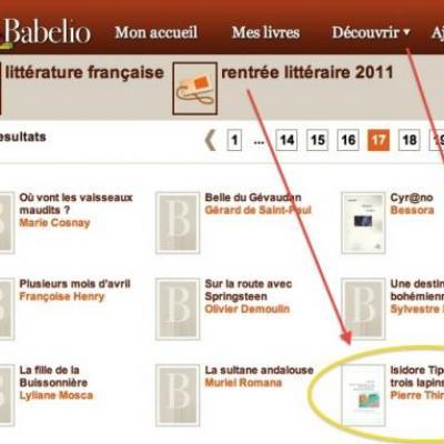 Rentrée littéraire 2011 sur Babelio