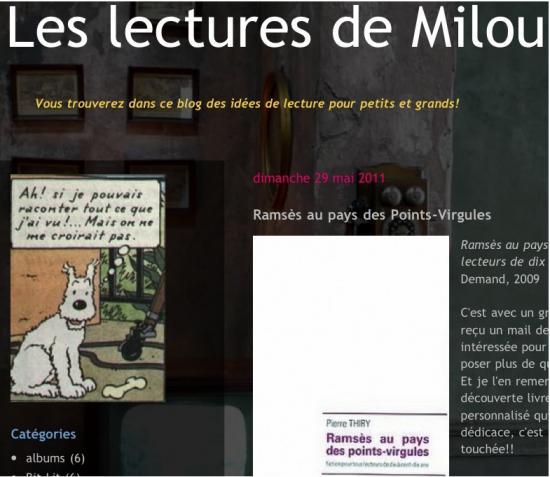 Les lectures de Milou a lu «Ramsès au pays des points-virgules»