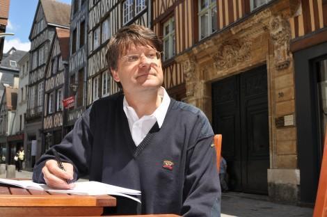 Pierre Thiry rue Damiette (photo Thierry Chion, Côté Rouen)