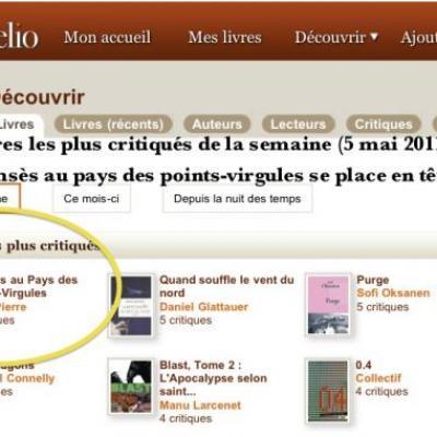 En tête des six livres les plus critiqués (5 mai 2011)