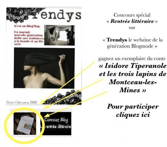 """Concours Rentrée littéraire sur """"Trendys le webzine de la génération Blogmode"""""""