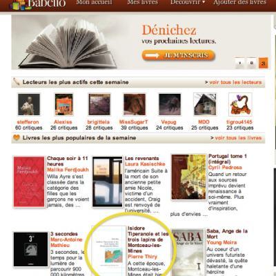 Isidore Tiperanole parmi les six livres les plus populaires de la semaine sur Babelio (21 septembre)