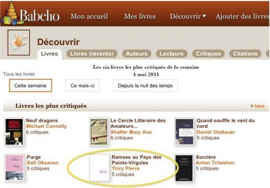 6 livres les plus critiqués sur Babelio (4 mai)
