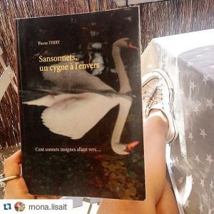 Mona lisait vous invite à lire SANSONNETS UN CYGNE À L'ENVERS cliquez ici