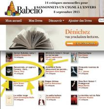 14 critiques pour SANSONNETS UN CYGNE À L'ENVERS du 8 août au 8 septembre sur Babelio cliquez ici