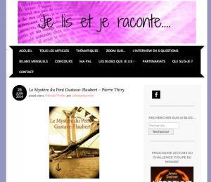Je lis et je raconte vous invite à lire Le Mystère du pont Gustave-Flaubert