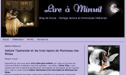 Lire à minuit a lu et a eu un coup de coeur pour Isidore Tiperanole et les trois lapins de Montceau-les-Mines