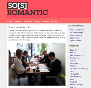 SO(S) ROMANTIC VOUS INVITE AUX ATELIERS D'ÉCRITURE EVASIONS D'ÉCRITURE ANIMÉS PAR PIERRE THIRY