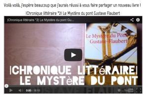 Une qualdlibrary vous invite a lire Le Mystère du pont Gustave-Flaubert